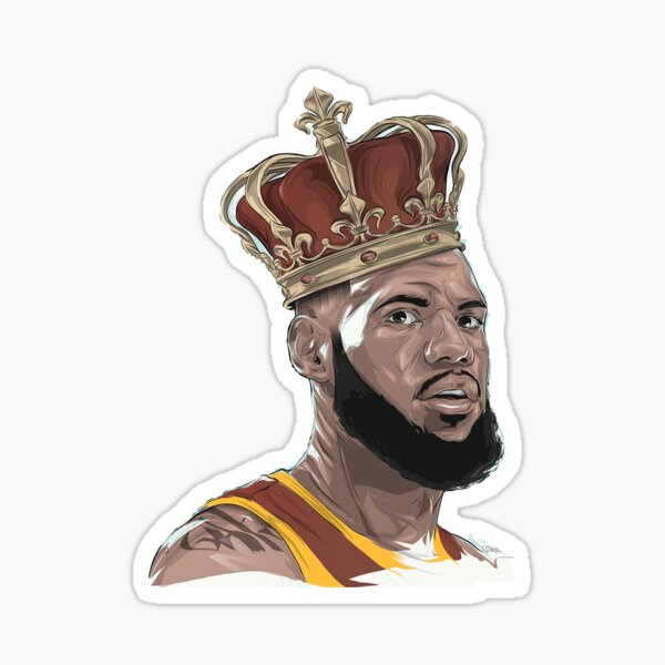 Lebron James The King Sticker