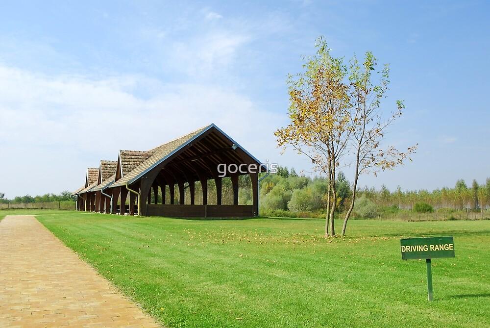 Sport golf driving range building by goceris