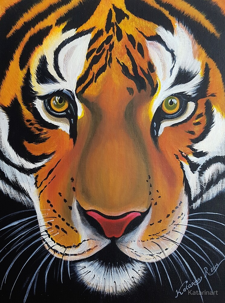 Tiger, acrylic on canvas by Katarinart