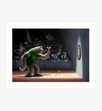 Sloth Darts Art Print