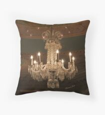 A Chandelier by Louis Comfort Tiffany Throw Pillow
