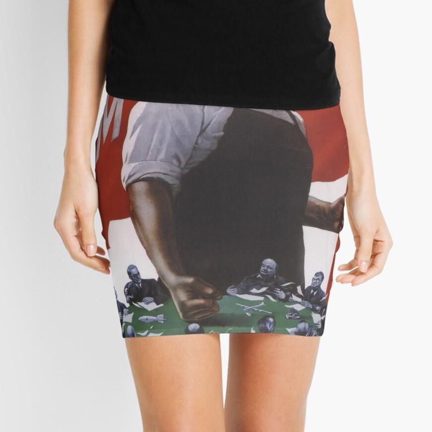 We demand peace! Mini Skirt Front