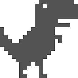 8-bit Dinosaur Chrome by kleversonk