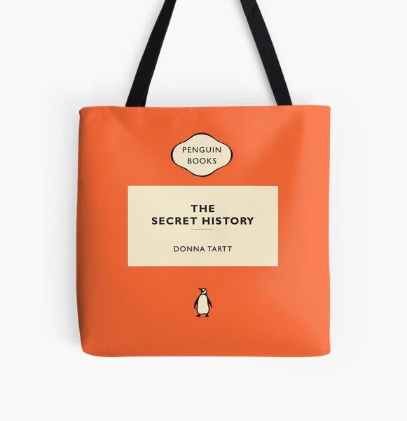 Penguin Book La historia secreta Bolsa estampada de tela