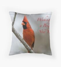 Wishing you a Bright New Year! Throw Pillow