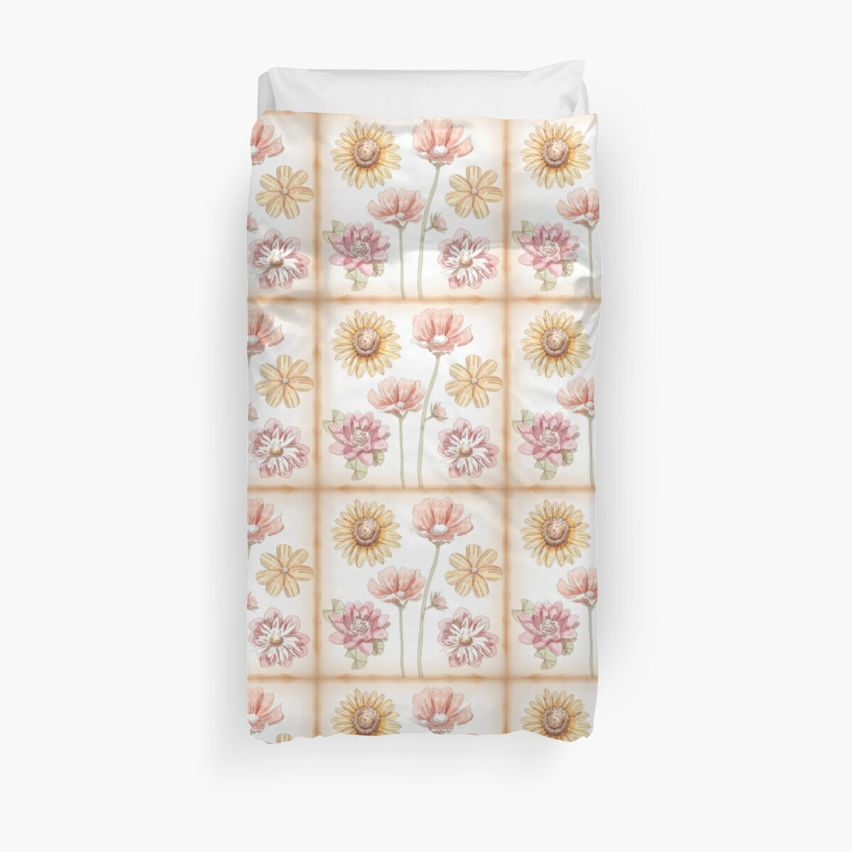 Spring Flowers Squares by Vickie Emms