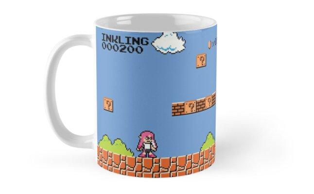 inkling world (mario/splatoon) mug by Ashley Castleton
