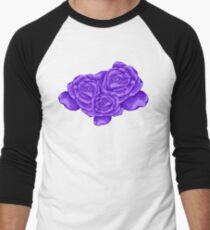 violet roses Men's Baseball ¾ T-Shirt