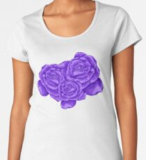 violet roses Women's Premium T-Shirt