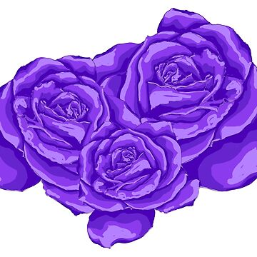 violet roses by lisenok