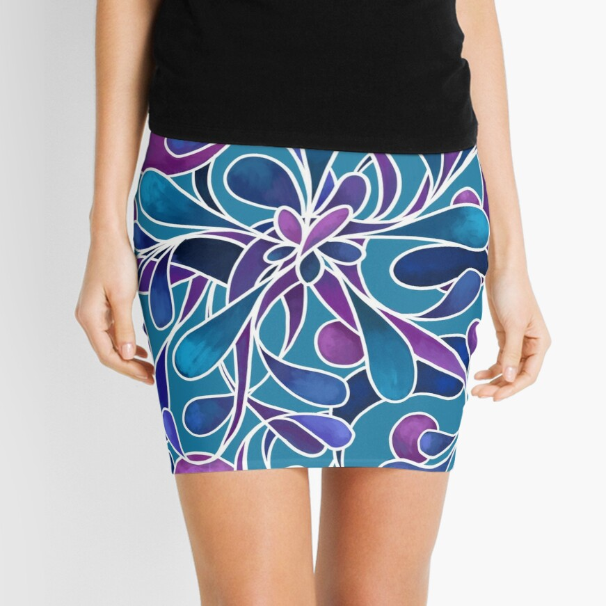 Loose yourself in the flowery vibrance Mini Skirt Front