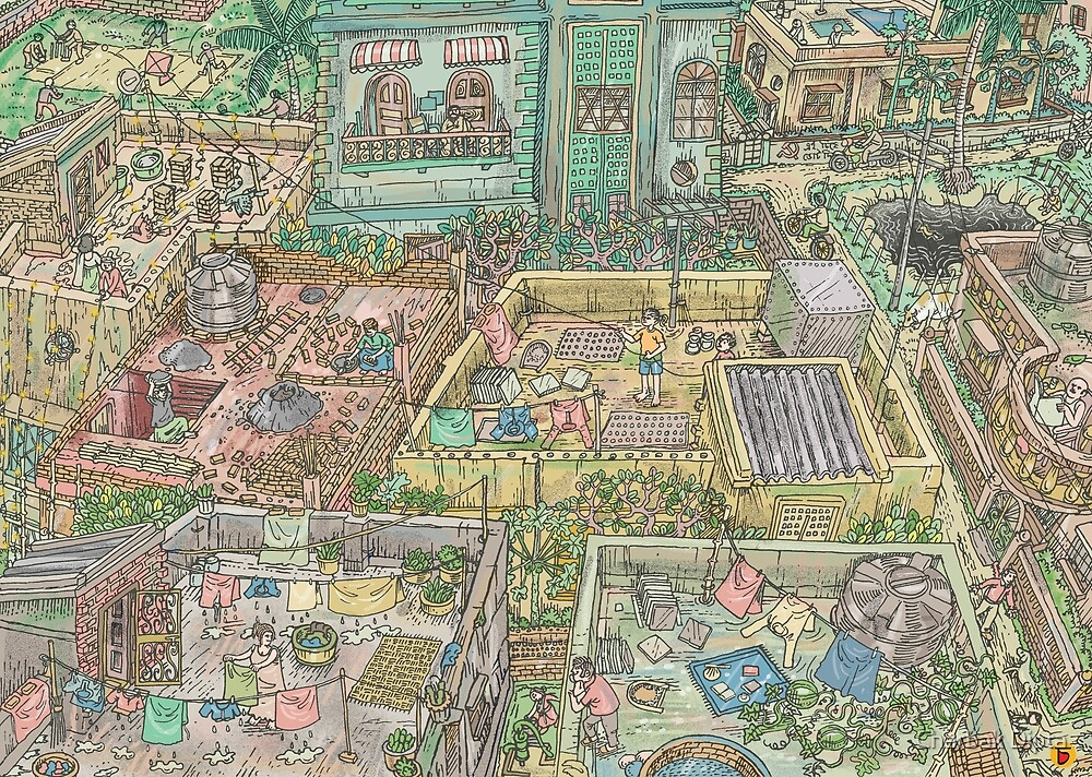The Roofworld by Charbak Dipta