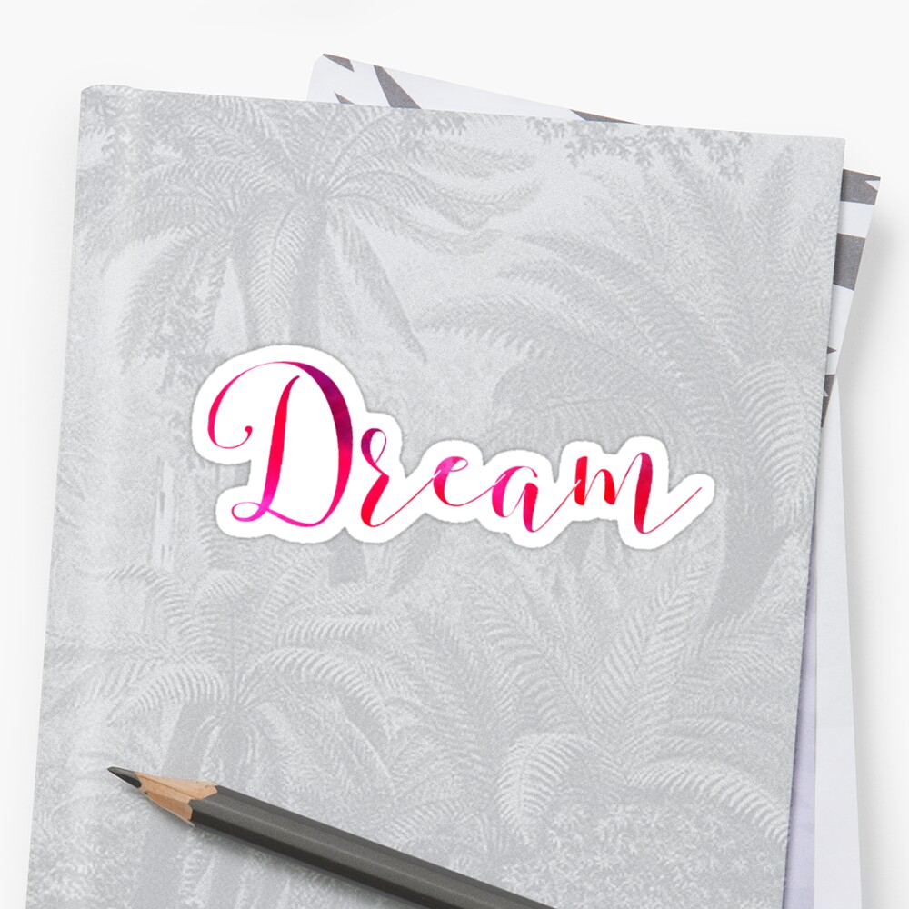 Pink Dream Typography  by sarahbubble