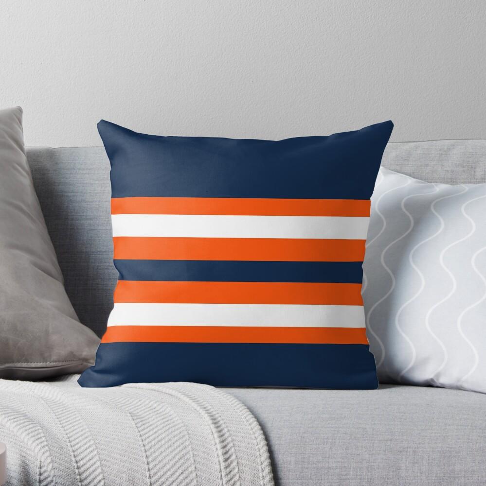 Nhl Edmonton Oilers Throw Pillow By Lizsomenot Redbubble