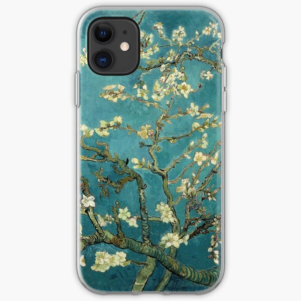 Original Vincent Willem van Gogh Impressionist Art Painting Restored Blossoming Almond Tree iPhone Soft Case