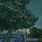 Original Vincent Willem van Gogh Impressionist Art Painting Restored Blossoming Chestnut Trees by jnniepce