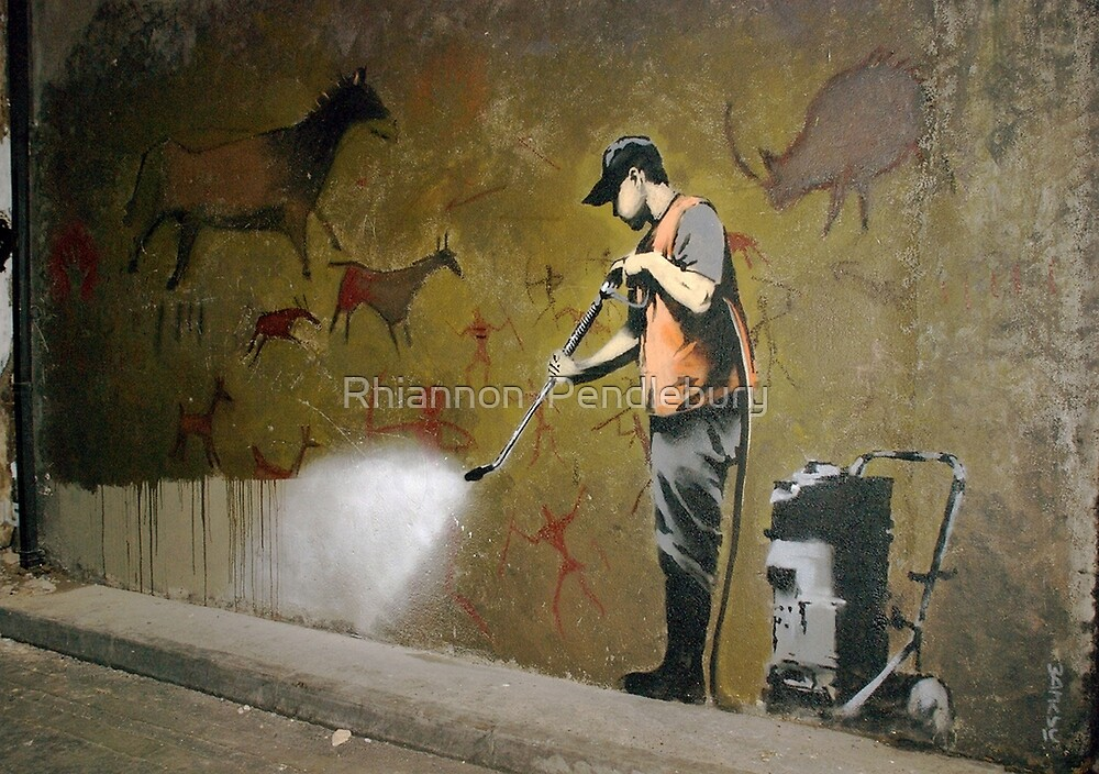 Cave Painting Removal, Banksy by Rhiannon  Pendlebury