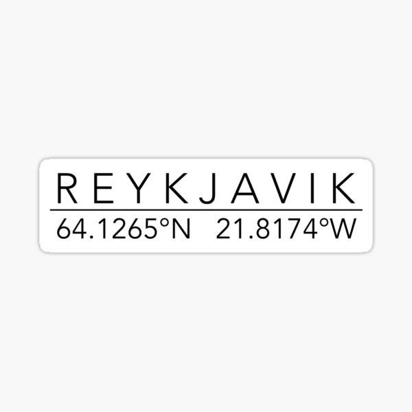 reykjavik Sticker