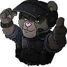 Bomb disposal teddy bear by hiwez