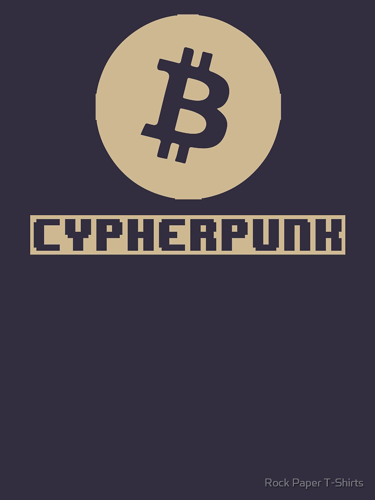 Cypherpunk Bitcoin (tan) by rockpapershirts