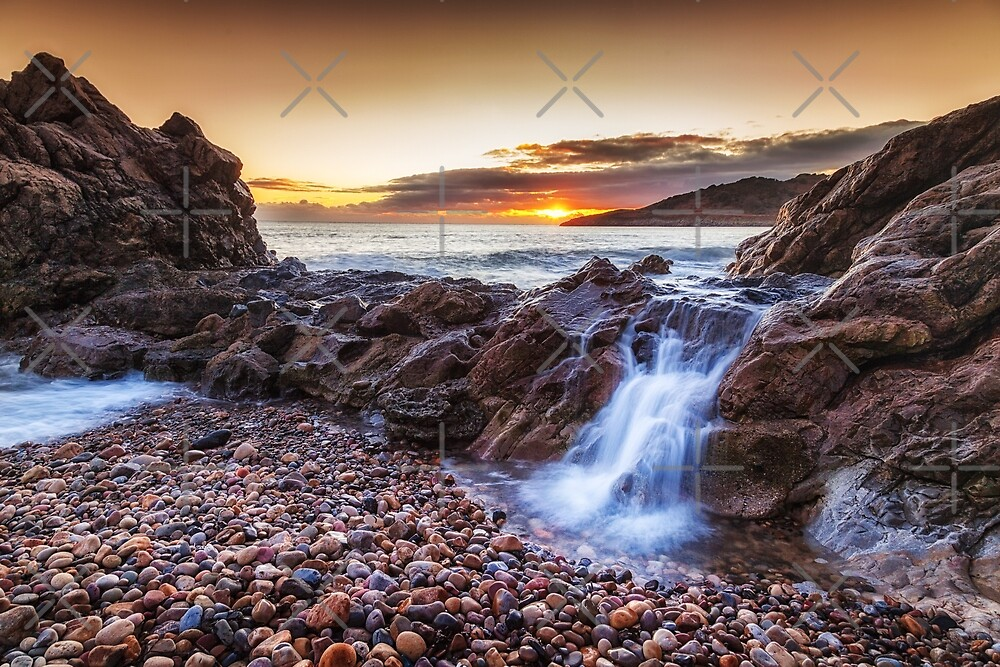 Ocean cascade at Rotherslade by Leighton Collins