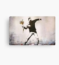 Rage, Flower Thrower, Banksy  Canvas Print