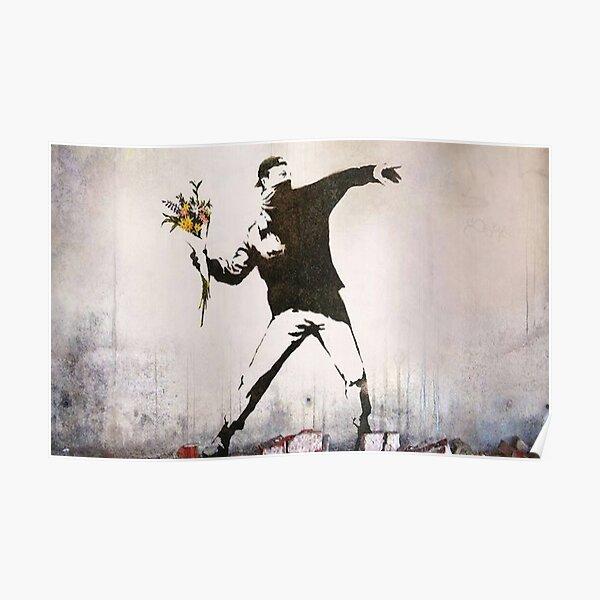 Rage, Lanceur de fleurs, Banksy Poster