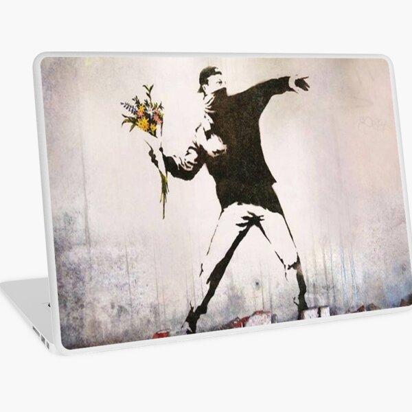 Rage, Flower Thrower, Banksy  Laptop Skin
