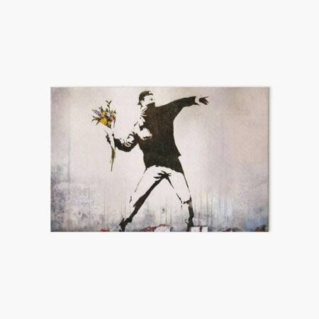 Rage, Flower Thrower, Banksy  Art Board Print