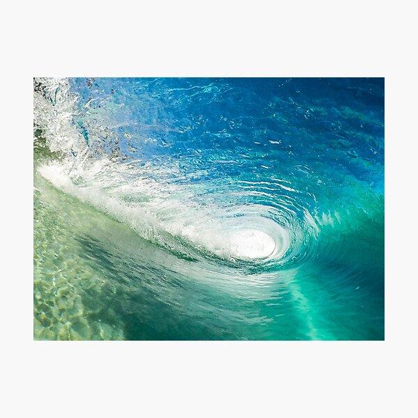 Wave Tube surfing surf Beach Waves Water Wave Ocean Coastal Photographic Print