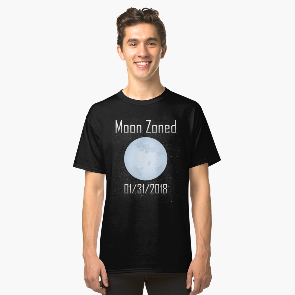 Lunar Eclipse 2018 Moon Zoned Classic T-Shirt Front