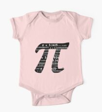 Pi Day Graphic Symbol One Piece - Short Sleeve