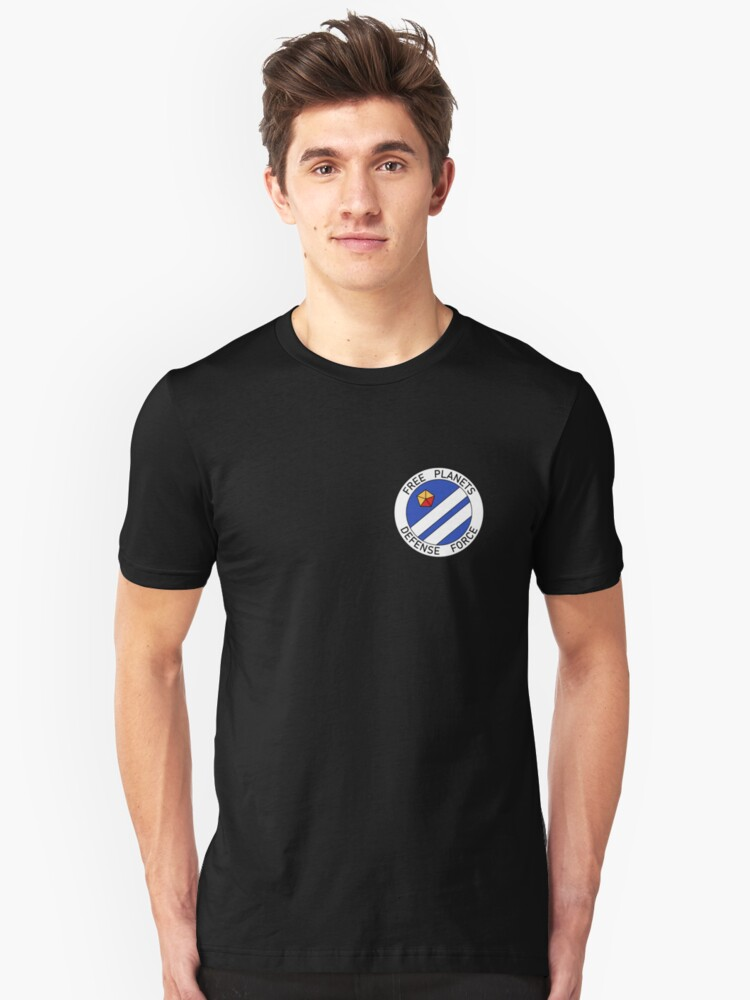 Free Planets Defense Force insignia - corner print Unisex T-Shirt Front