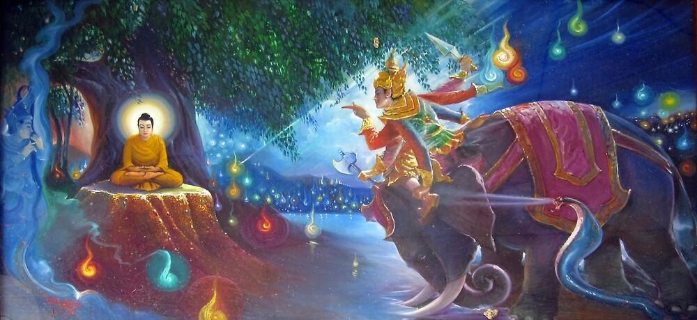 Buddhist Illustration of Mara by sdganx