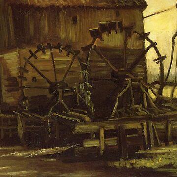 Original Vincent Willem van Gogh Impressionist Art Painting Restored Wooden House by jnniepce