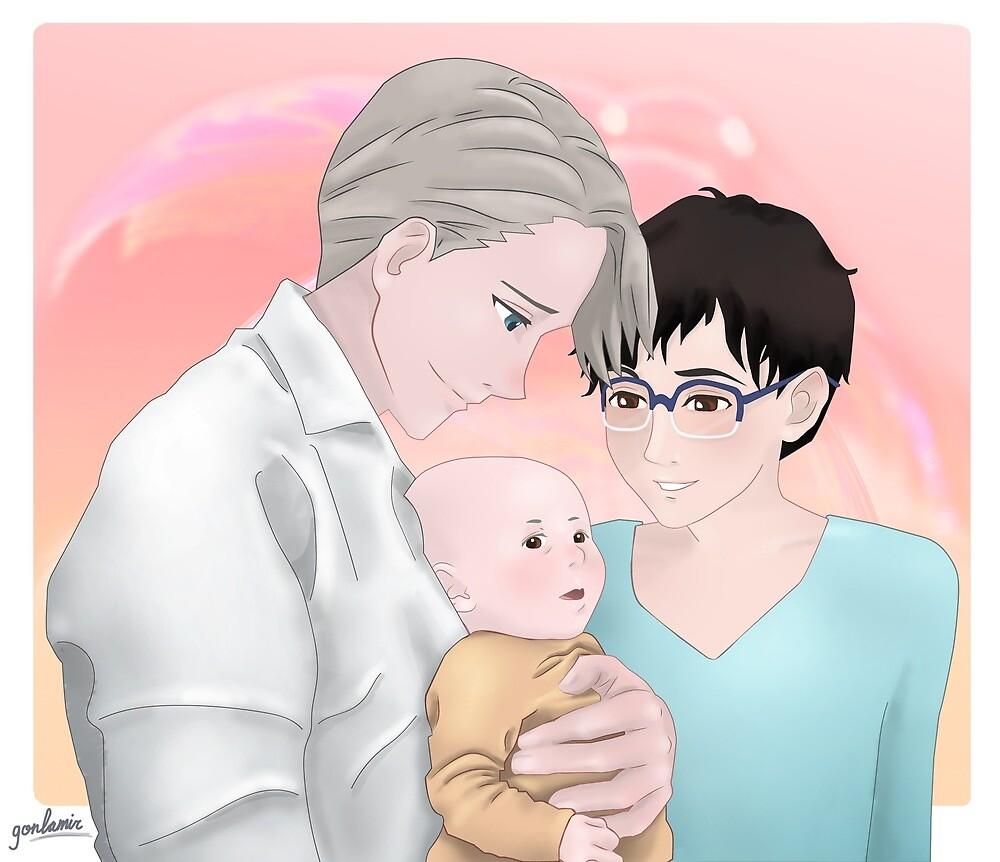 Victuuri baby by LGlezMiranda