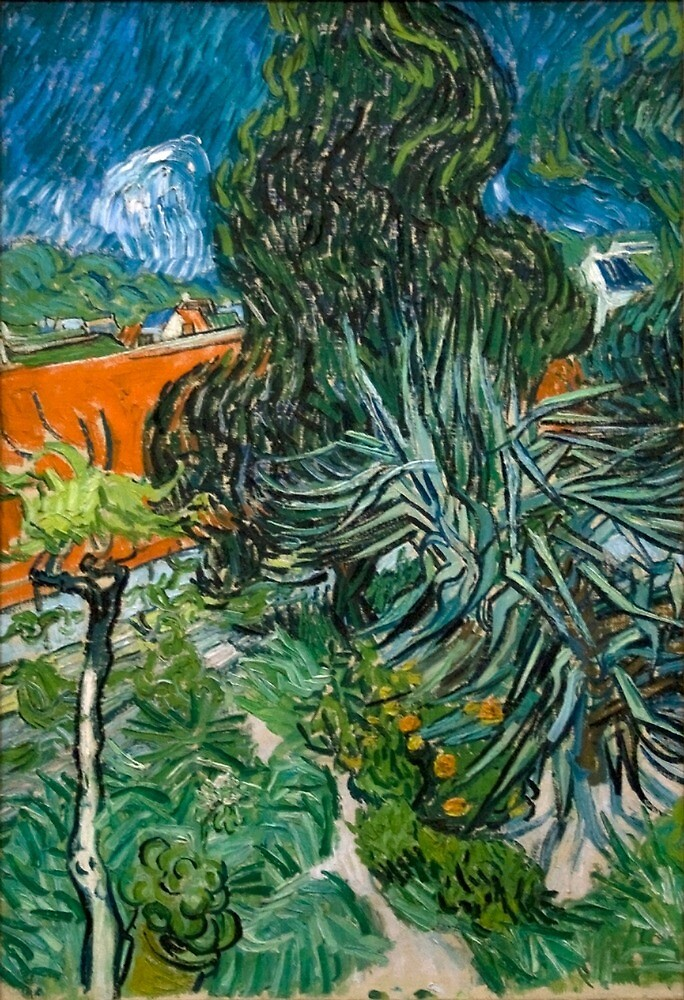 Original Vincent Willem van Gogh Impressionist Art Painting Restored Doctor Gachet Garden in Auvers by jnniepce