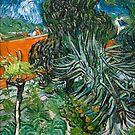 Original Vincent Willem van Gogh Impressionist Art Painting Restored Doctor Gachet Garden in Auvers by jnniepce