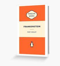 Penguin Book Frankenstein Greeting Card