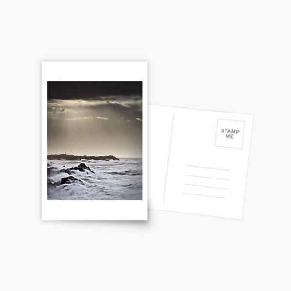 White sea, dark sky Carte postale