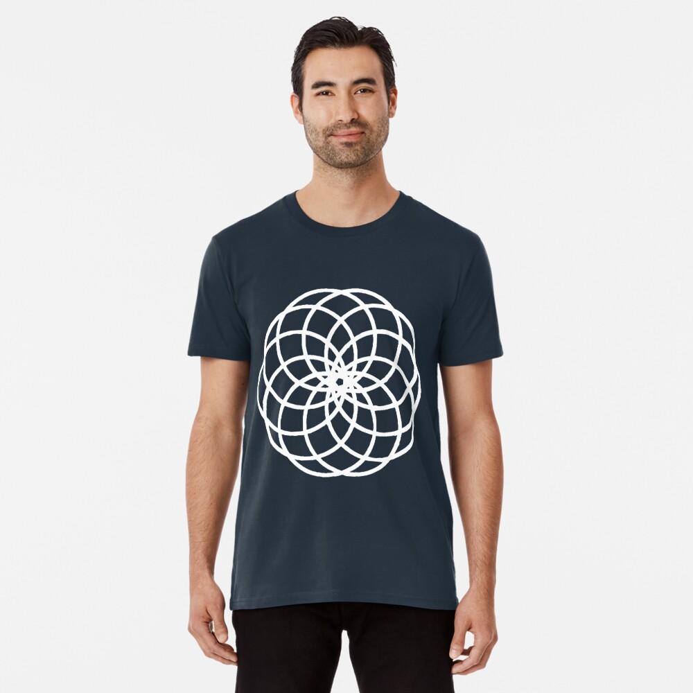 10-Petal Flower of Life Torus Star Men's Premium T-Shirt Front