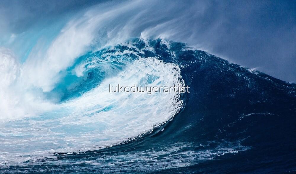 Breaking Wave surfing surf Beach Waves Water Wave Ocean Coastal by lukedwyerartist