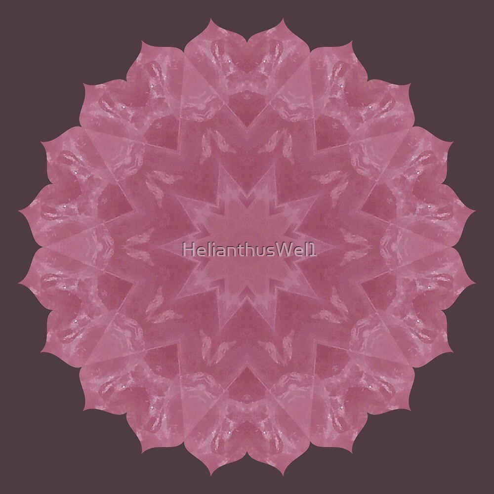 Rose Quartz Mandala by HelianthusWel1