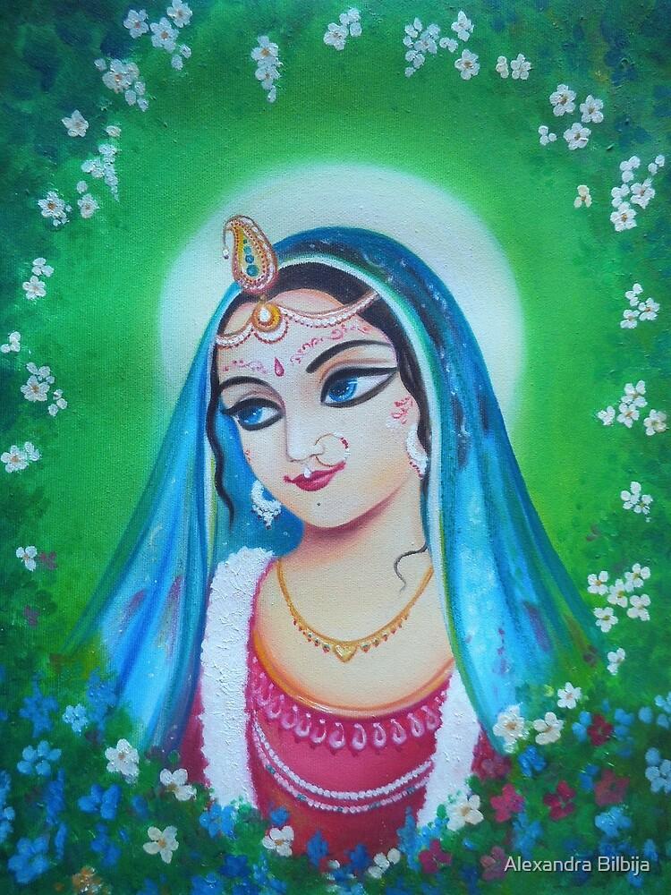 Radharani - The Indian Goddess of Love by Alexandra Bilbija
