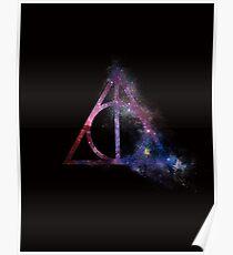 Galaxy hallows (half sand explosion) - wand, cloak, stone Poster