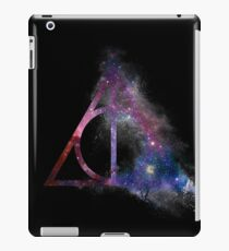 Galaxy hallows (half sand explosion) - wand, cloak, stone iPad Case/Skin