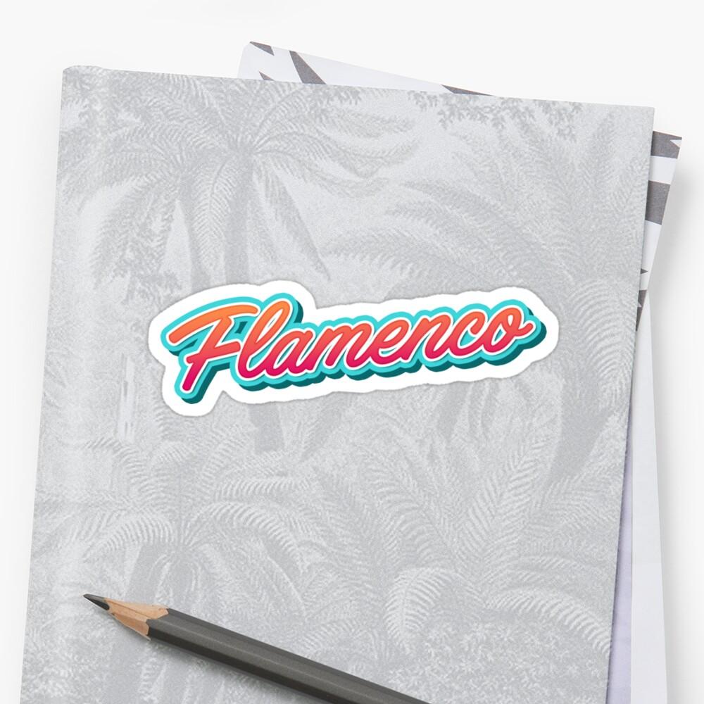Flamenco Dance Typography by Georgi Zhelyazkov