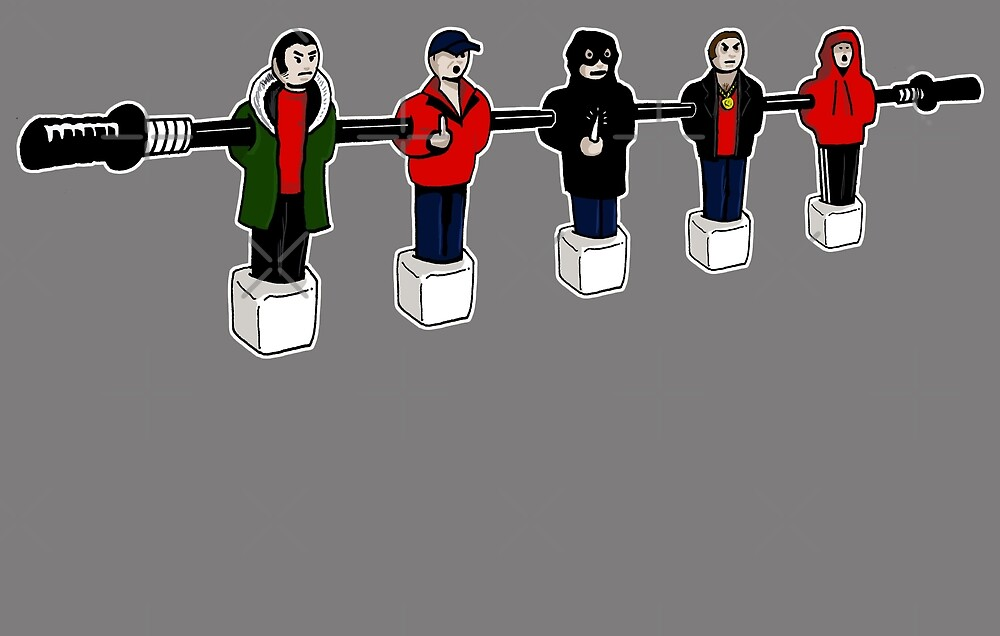 table football hooligans - Funny game joke by Ice-Tees
