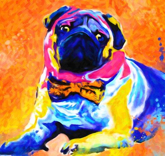 Pug Dog POP art Portrait by Nora Gad