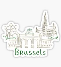 Brussels Panorama Sticker